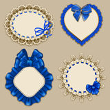Set of elegant templates frame design Royalty Free Stock Images