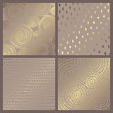 Set of elegant vector backgrounds with gold imitation. For design and decoration of cards and invitations vector illustration