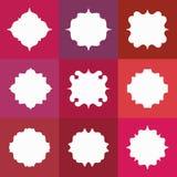 Set of Elegant Vector White Badges or Empty Frames Stock Image