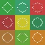 Set of Elegant Vector White Line Frames on Royalty Free Stock Images