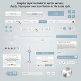 Set of elegant web elements Stock Photo