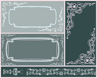 Set of elegant wedding invitations. With calligraphic designs Vector Illustration
