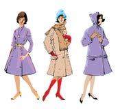 Set of elegant women Royalty Free Stock Images