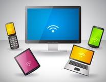 Set elektronische Geräte Lizenzfreies Stockfoto