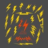 Set elektryczna błyskawica Obraz Stock