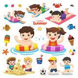 Set Element For Summer Season. Royalty Free Stock Images