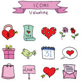 Set element valentine days vector art. Illustration Stock Photo