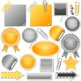 Set of elements Stock Photo