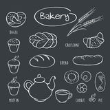 Set of elements for the bakery. Royalty Free Stock Image