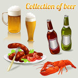 Set of elements of beer Stock Images