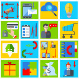 Set elements business businessman, gadgets, gramophone, money Royalty Free Stock Photos