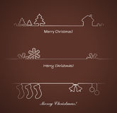 Set of elements for Christmas cards . Stock Photos