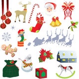 Set: Elements for Christmas design. Elements for Christmas design,  illustration Royalty Free Stock Photo