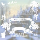 Set elements for Christmas and New Year design Stock Photography