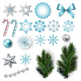 Set of elements for Christmas and New Year design Royalty Free Stock Photos