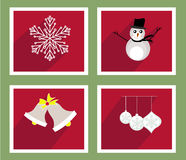 Set of elements for Christmas and New Year greeting cards Royalty Free Stock Photography