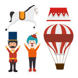 Set elements circus show icons. Illustration eps 10 Royalty Free Stock Images