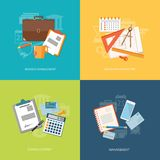 Set of elements for content of education, business, marketing Royalty Free Stock Photography