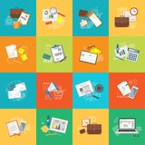 Set of elements for content of education, business, marketing stock illustration