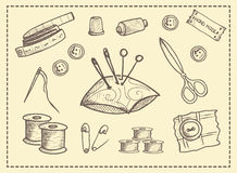 Set of elements for crafts Stock Images
