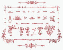 Set of elements for creating borders Royalty Free Stock Photo
