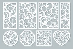 Set elements decorative design. geometric ornament pattern. stock photography