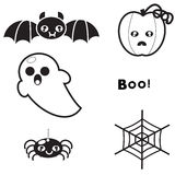 Set of elements for design background and poster for Halloween Stock Photography