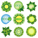 Set of elements for Eco design vector Stock Photo