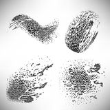 Set of elements of halftone dotted and blob background dotwork Stock Photo