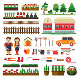 Set of elements for horticulture. Farm building Stock Images