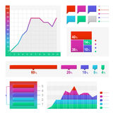 Set of elements for infographic Royalty Free Stock Images
