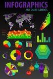 Set elements of infographics. Royalty Free Stock Photography