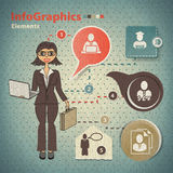 Set of elements for infographics Stock Images
