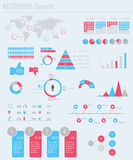 Set elements of infographics. Set elements of detail infographics Royalty Free Stock Photography