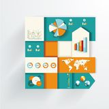 Set elements of infographics Royalty Free Stock Photos