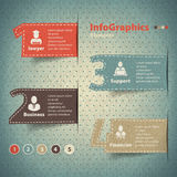 Set of elements for infographics in the form number and cards Stock Images