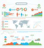 Set elements of infographics. Royalty Free Stock Images