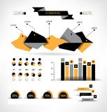 Set elements of infographics Royalty Free Stock Photography
