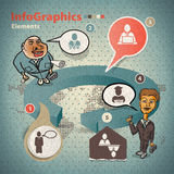 Set of elements for infographics Stock Photos