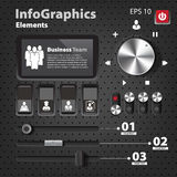 Set of elements for infographics in UI style Stock Photos