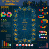 Set of elements infrastructure city, vector infographics. Illust Royalty Free Stock Photography