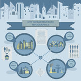 Set of elements infrastructure city, vector infographics. Illustration Stock Photos