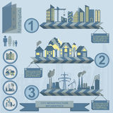 Set of elements infrastructure city, vector infographics. Illustration Stock Image