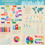 Set of elements infrastructure city, vector infographics Stock Photo