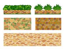 Set of elements for landscape designing Royalty Free Stock Images