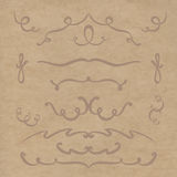 Set of elements of the lines. Kraft paper background Royalty Free Stock Photography