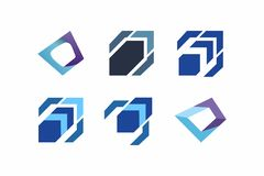 Set of elements for logo design template royalty free stock photography