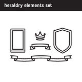 Set of elements for the logo Stock Images