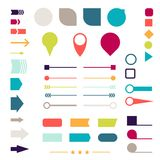 Set of elements, markers, arrows and dividers for Royalty Free Stock Photos