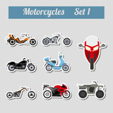 Set of elements motorcycles for creating your own infographics o Stock Image